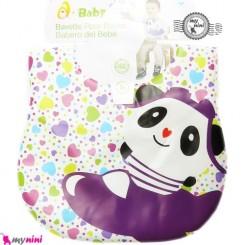 پیشبند ضد لک قلب و پاندا Baby cartoon waterproof bibs