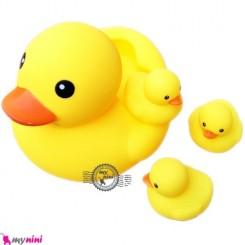 پوپت حمام اردک مهربون 4 عددی 4PCS Duck bath toys