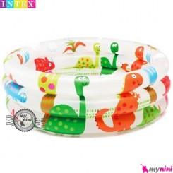 وان اینتکس بادی دایناسور Intex Dinosaur 3 Ring Baby Pool
