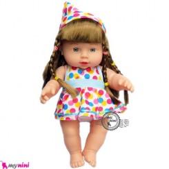 عروسک ترانه خوان دختر لباس اسمارتیزی 30 سانتی Baby musical doll