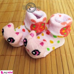 جوراب عروسکی نوزادی کفشدوزک و گربه Baby cute socks