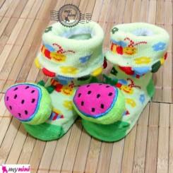جوراب عروسکی نوزاد هندوانه  Baby cute socks