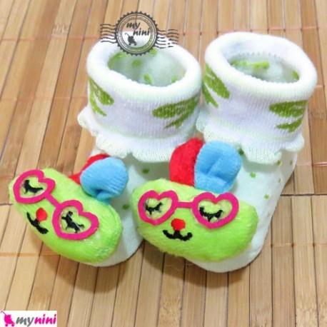 جوراب عروسکی بچه خرگوش عینکی Baby cute socks