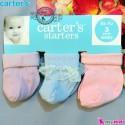 جوراب کارترز پنبه ای 3 عددی Carter's baby socks
