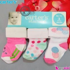 جوراب کارترز سیسمونی Carter's baby socks