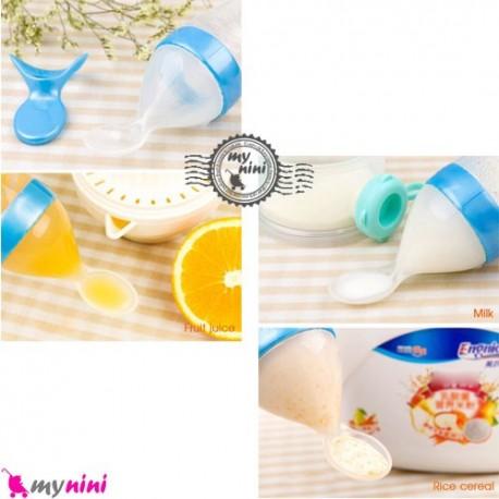 سرلاک خوری سیلیکونی نوزاد و کودک Silicone spoon feeding bottle