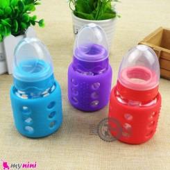 شیشه شیر پیرکس محافظ دار 60 میل Only baby glass feeding bottle