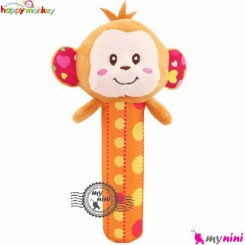 جغجغه دسته دار پولیشی هپی مانکی میمون Happy Monkey hand bell rattles