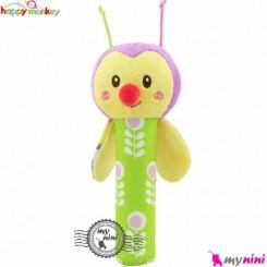 جغجغه دسته دار پولیشی هپی مانکی زنبور Happy Monkey hand bell rattles
