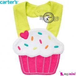 پیشبند عروسکی کارترز کیک Carter's teething bibs