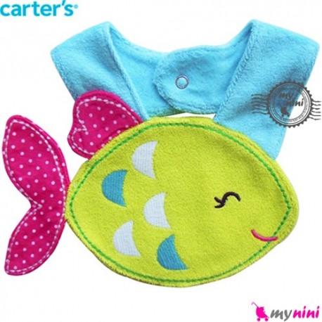 پیشبند عروسکی کارترز ماهی سبز Carter's teething bibs