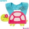 پیشبند عروسکی کارترز لاکپشت Carter's teething bibs