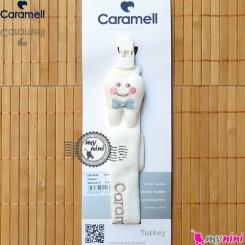 بند پستانک کارامل عروسکی طرح دندان Caramell baby pacifier holder
