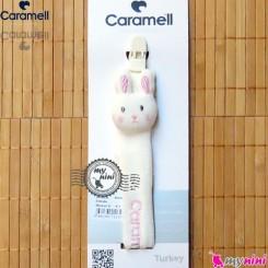 بند پستانک کارامل عروسکی خرگوش سفید Caramell baby pacifier holder