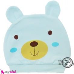 کلاه کشی نوزاد پنبه ای خرس بامزه Newborn cotton hat