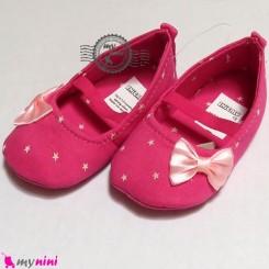 کفش دخترانه سرخابی ستاره Baby shoes