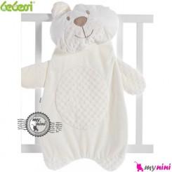 تشک و بالش نوزاد بِبِسی خرس شیری Bebessi bear mattress