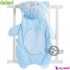 تشک و بالش نوزاد بِبِسی خرس آبی Bebessi bear mattress