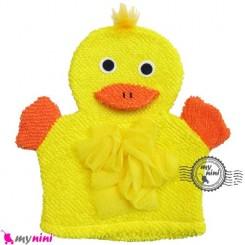 لیف عروسکی نوزاد و کودک جوجه اردک Baby Hand Puppet Bath Shower Wash Mitt