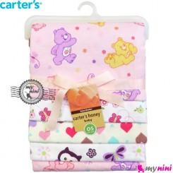 خشک کن کارترز و روانداز 4 عددی خرس مهربون Carters newborn blanket