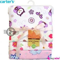 خشک کن کارترز نوزاد یاسی جغد Carters newborn blanket