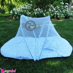 پشه بند کودکان تشکدار آبی ابر Baby mosquito net