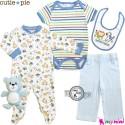 ست لباس نوزاد و کودک 5 تکه پنبه ای حیوانات Cutie Pie baby clothes