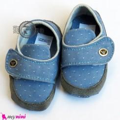 کفش پسرانه لی آبی دور طوسی Baby shoes