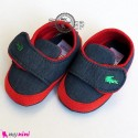 کفش پسرانه لی سُرمه ای دور قرمز Baby shoes