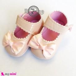 کفش نوزاد و کودک دخترانه صورتی یخی Baby footwear