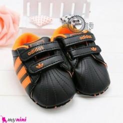 کفش اسپُرت نوزاد و کودک آدیداس مشکی نارنجی Baby footwear