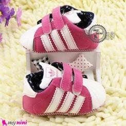 کفش اسپُرت نوزاد و کودک آدیداس صورتی Baby footwear