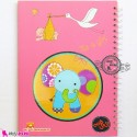 نی نی نامه خاطرات نوزاد و کودک دختر فیل Notes to baby