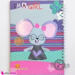 نی نی نامه خاطرات نوزاد و کودک دختر موش Notes to baby