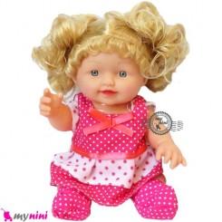 عروسک ترانه خوان دختر سرخابی 30 سانتی Baby musical doll