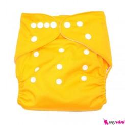 شورت آموزشی 3 لایه زرد Baby Reusable Diaper