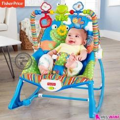 گهواره برقی فیشر پرایس آبی قورباغه Fisher Price infant to todler