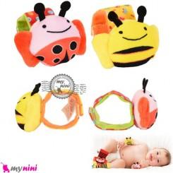 مچبند جغجغه ای نوزاد زنبور و کفشدوزک Skk baby wrist rattles