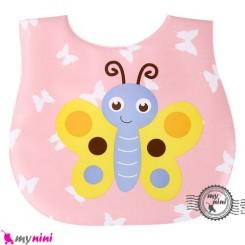 پیشبند ضد لک نوزاد و کودک پروانه Baby cartoon waterproof bibs
