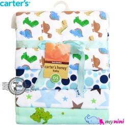 خشک کن بچه و روانداز 4 عددی دایناسور کارترز Carter's blanket