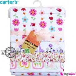 خشک کن و روانداز 4 عددی گل و جغد کارترز Carter's