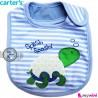 پیشبند کارترز پنبه ای آبی لاکپشت Carters baby cotton bib