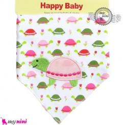 دستمال گردن نوزاد و کودک 2 لایه لاکپشت Baby Triangle cotton bibs