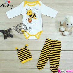 ست لباس نوزاد پنبه ای زنبور ترکیه Mini bird baby clothes set