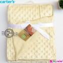 پتو کارترز حباب دو لایه کِرِمی Carter's baby fleece blanket