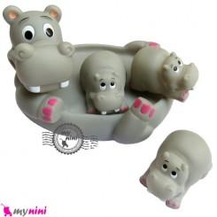 پوپت حمام اسب آبی 4 عددی 4PCS Hippo bath toys