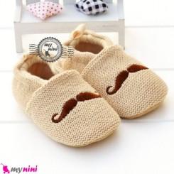 کفش نوزاد و کودک طرح سبیل Baby footwear