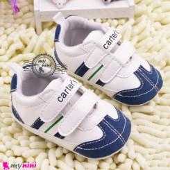 کفش اسپُرت نوزاد و کودک کارترز سفید سُرمه ای Baby footwear