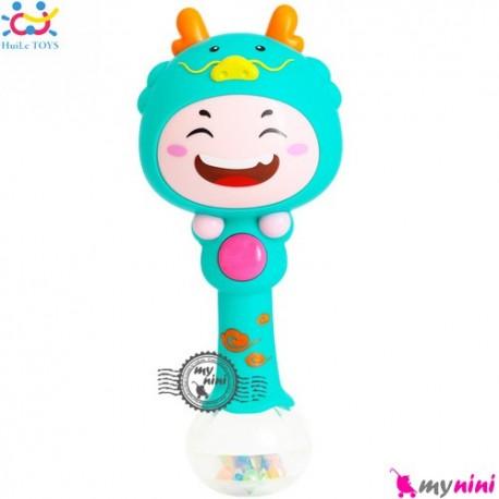 جغجغه موزیکال و چراغدار هویلی تویز اژدها Huile Toys zodiac dynamic rhythm sticks