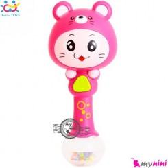 جغجغه موزیکال و چراغدار هویلی تویز موش Huile Toys zodiac dynamic rhythm sticks